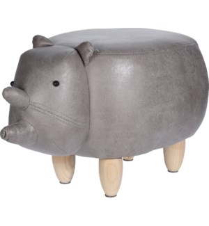 HZ1200530-Rhino Stool, 25x14x14 in