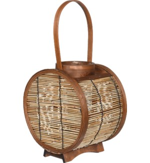 HZ1960610 AVERI LANTERN REED WOOD ROUND