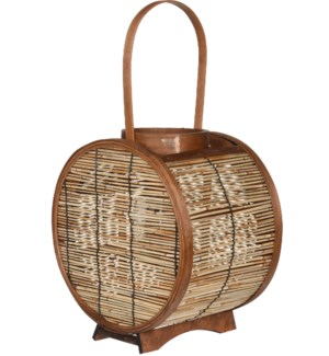 HZ1960620 AVERI LANTERN REED WITH WOOD ROUND