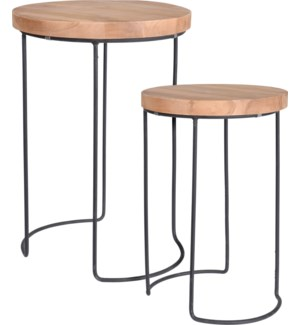 J11300980 REMI SIDE TABLE TEAK SET 2PCS