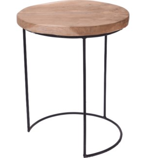 """J11301140 REMI SIDE TABLE TEAK DIA 38XH45CM LC, FD"""