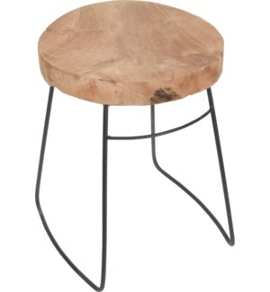 J11301210 REMI STOOL TEAK WITH METAL LEGS