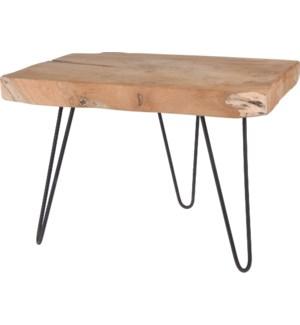 J11301270 REMI END TABLE TEAK 50X40X37CM