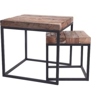 J11301360 SIERRA SIDE TABLE SET 2PCS