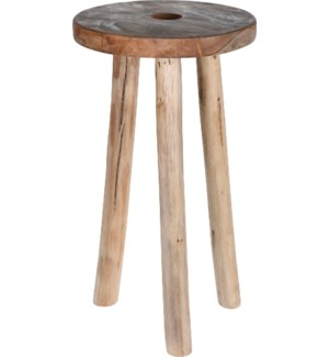J11400090 OPHELIA FLOWER STOOL TEAK WOOD