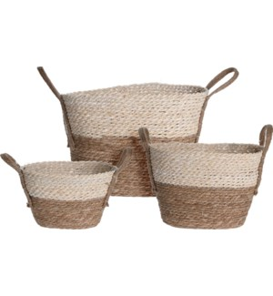 KR2000950 PABLO BASKET SET OVAL 3 SIZES
