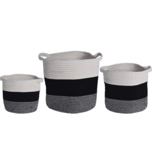 NB1300150 PABLO STORAGE BASKET ROPE SET 3PCS