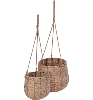 NB1402190 ELODIE BASKET SEAGRASS WITH ROPE 2PCS