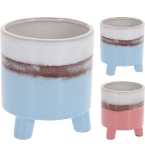 HZ1950340 CERAMICS FLOWERPOT 2ASS CLR