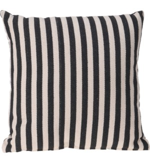 A35850410 ELLA CUSHION 45X45CM BLACK STRIPE