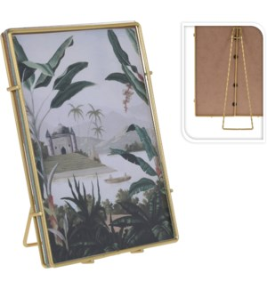 HZ1300520-Gold Photo Frame, M,  3Asst, 5x2x7 inch, Metal