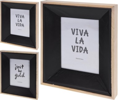 ASH302520 Photo Frame Natural Wod/Black 8.3x1.2x10.2inch (units/inner:12units/outer:12) - ON SALE 40