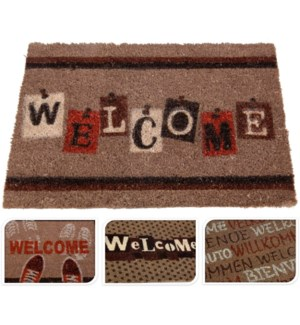 WELCOME Doormat Pv Tufted 40X60 Coconut 15.7x23.6x0.6inch. *INCOMPLETE ASSORT* On sale 30 percent of