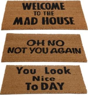 A35400540. Saying Doormat 3Ass LC