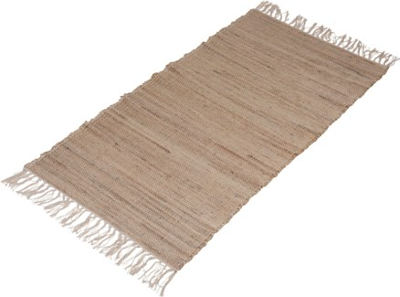 A35831010-Lenor Rug, M, Sand, Cotton/Jute, 28x55 in