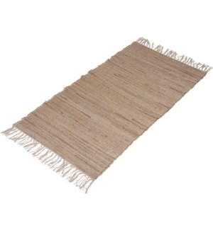 A35831010-Lenor Rug, M, Sand, Cotton/Jute, 28x55 in FD