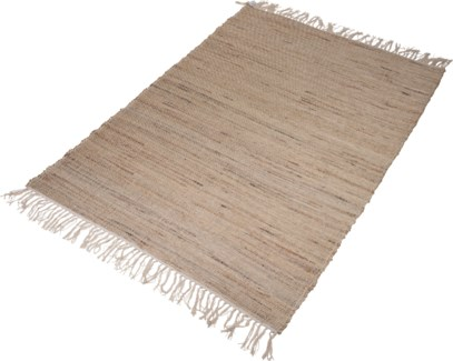 A35831020-Lenor Rug, L, Sand, Cotton/Jute, 48x71 in