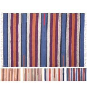 A35888730-Striped Rugs, 4Asst, 47x71 in, 100% Cotton