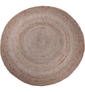 A35920320-Round Rug, 59 in, Braided Jute