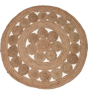 """""""Rug Round Braided Jute, Double Braided, Dia 18.6in"""""""