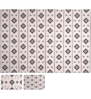 """A35992130 RUG 2 ASSORTED MANOU DESIGNS, COTTON"""