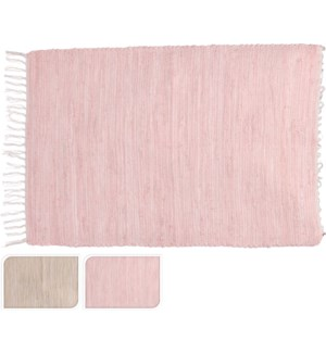 """A35992260 RUG WITH FRINGES, 2ASST ,SIZE 60X90CM,"""