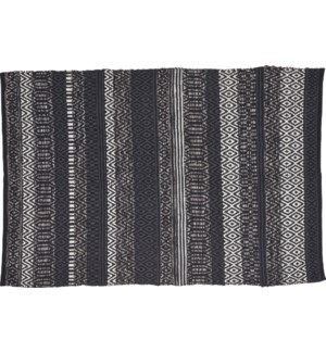 """A54031410 GREY RUG WITH HEMMING, COTTON WOVEN, S"""