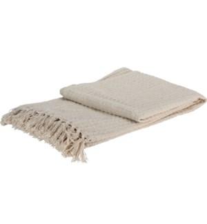 Throw 13X17cm Cotton 2Ass