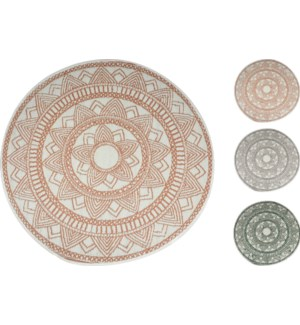 """""""Camping Floor Mat PP Round 59.1 in, Ass.:3 Colours"""""""