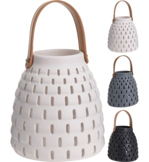 095706000 ROWAN LANTERN CERAMIC 3ASS CLR