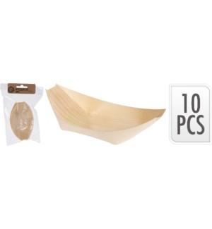 170430800 AMUSE BOWL S/10 OVAL 11CM WOOD