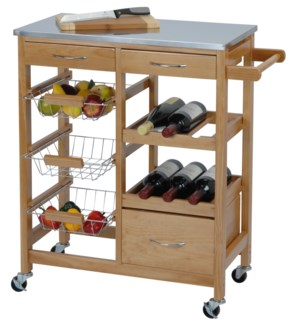 784400000 KNOX KITCHEN TROLLEY CA 66X36X84CM