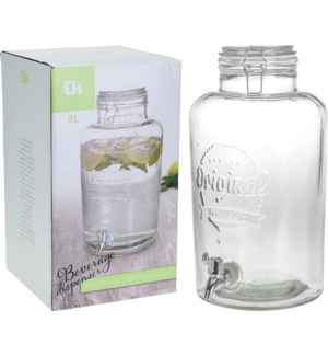 CD1000080 MAREN BEVERAGE DISPENSER GLASS 8LTR