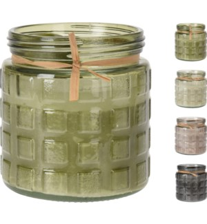 """""""Citronella Candle In Glass Jar, Ass.:4 Colours"""""""