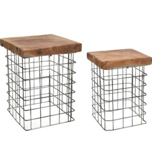 """J11300010-Square Side Table,S"""