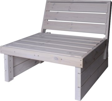 533000610 Patio Chair Wht, Wood 27.5x23 in