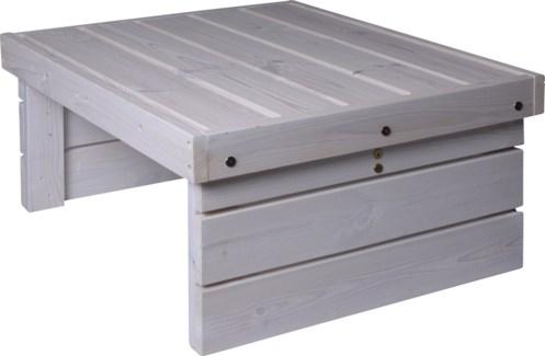 533000620 Patio Coffee Table Wht, Wood, 27.5x23 in. -Matching Cushion ki-6536