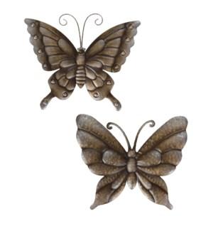"""""""Metal Wall Decoration Butterfly, 29X24cm, 2 Ass."""""""