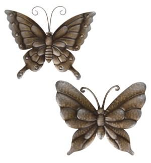 """""""Metal Wall Decoration Butterfly, 39X32.5cm, 2 Ass."""""""