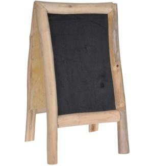 Blackboard Standing Teak Double Sided. 100X50X80cm.