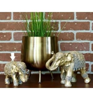 """Elephant Polystone Gold, Polystone"""