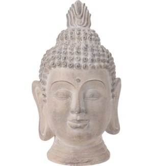 """095705540 BUDDHA HEAD, SMALL, CREAM ANTIQUE FINI"""