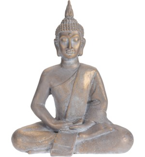 """095705660 BUDDHA SITTING, LARGE, GOLD ANTIQUE FI"""