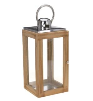 Saltspring Lantern Lrg, Wood SS 9.8x9.8x21.3inch. On sale 30 percent off!