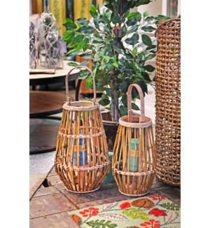 HZ1008130-Bamboo Lantern Small  FD