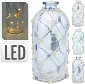 HC6700160 Nautical White Net Lantern, 3Asst, 4.7x4.7x10 in.