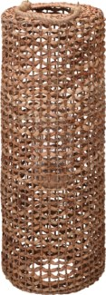 452100050 Water Hyacinth Lantern, Tall, w/glass cylinder, 11x31.5 Inches (Must Ship on Pallet)