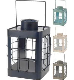 Nautical Lanterns 4 Asstd clrs 6.9x6.9x9.5inch FD On sale 30 percent off!