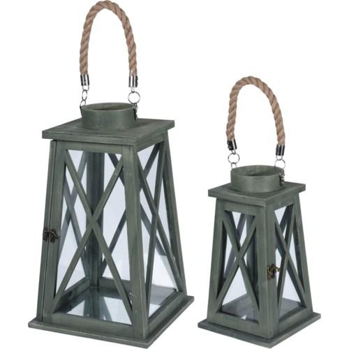 """HZ1905950-Gabby Lantern, Set/2, (small 7x7x12/Large 9x9x16 in)"""