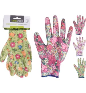 CK9900530 GARDEN GLOVES 9ASS DESIGN
